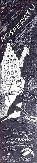 Nosferatu (1922) B&W insert poster by Albin Grau