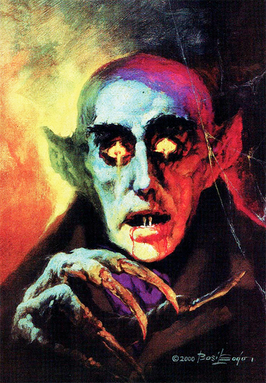 Nosferatu (1922) Count Orlok portrait by Famous Monsters of Filmland magazine illustrator Basil Gogos, 2000