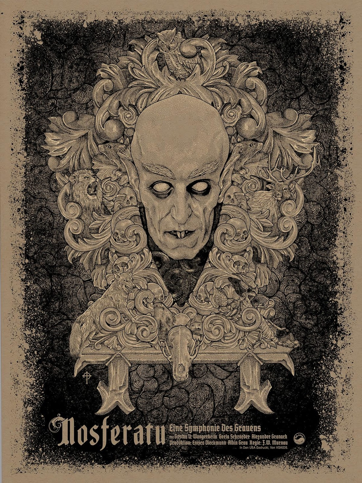 Nosferatu (1922) Dawn Edition poster by Timothy Pittides, 2015