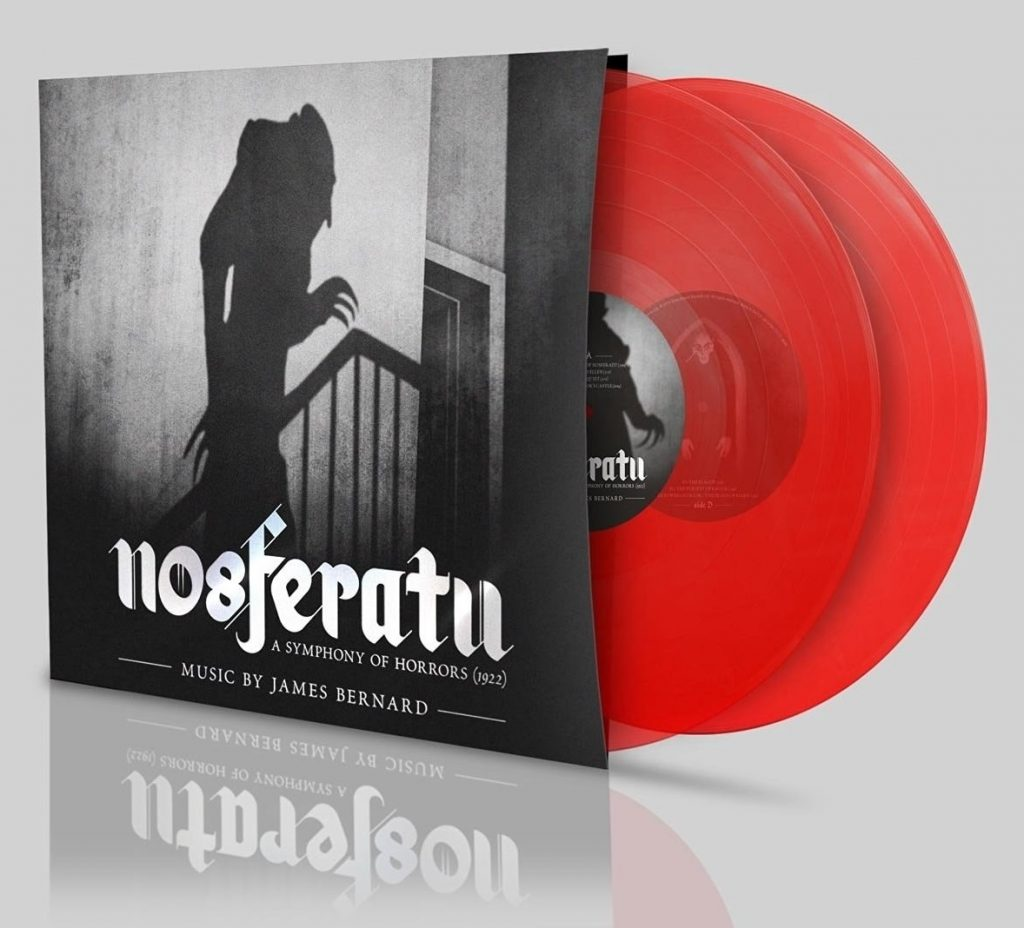 Nosferatu (1922) James Bernard score, Silva Screen red vinyl double LP