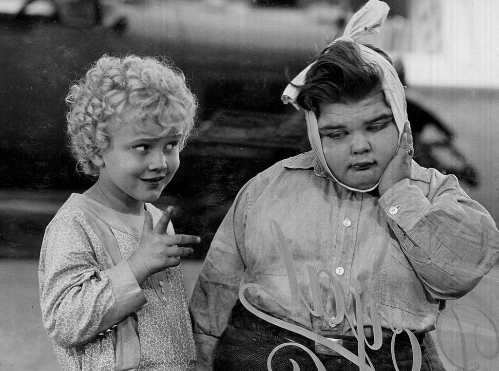 Jean Darling and Joe Cobb in Our Gang short, Noisy Noises (1929), cropped