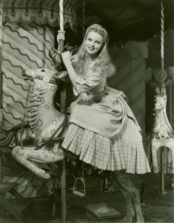 Jean Darling as Carrie Pipperidge in Carousel on Broadway, Apr 19, 1945 – May 24, 1947