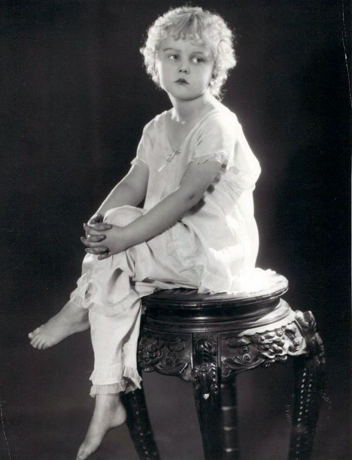 Jean Darling in pyjamas, c.1920s