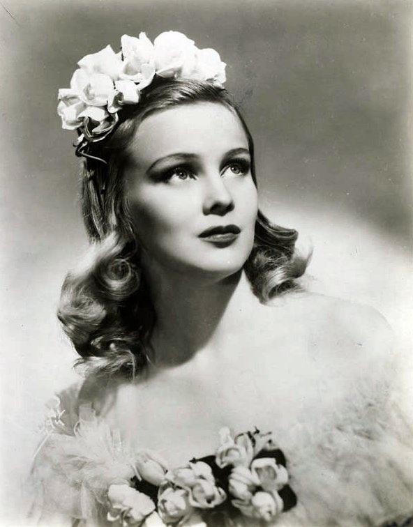 Jean Darling in wedding dress, c.1940s