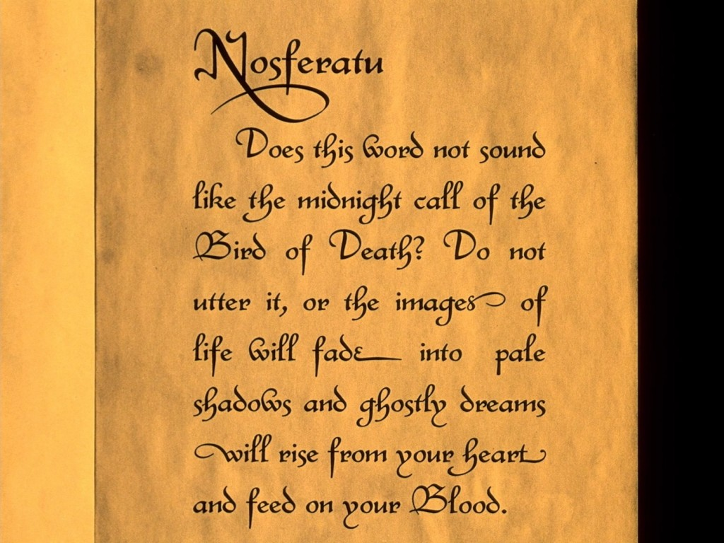 Nosferatu (1922), 1995 restoration (1997 Photoplay version), UK BFI Blu-ray