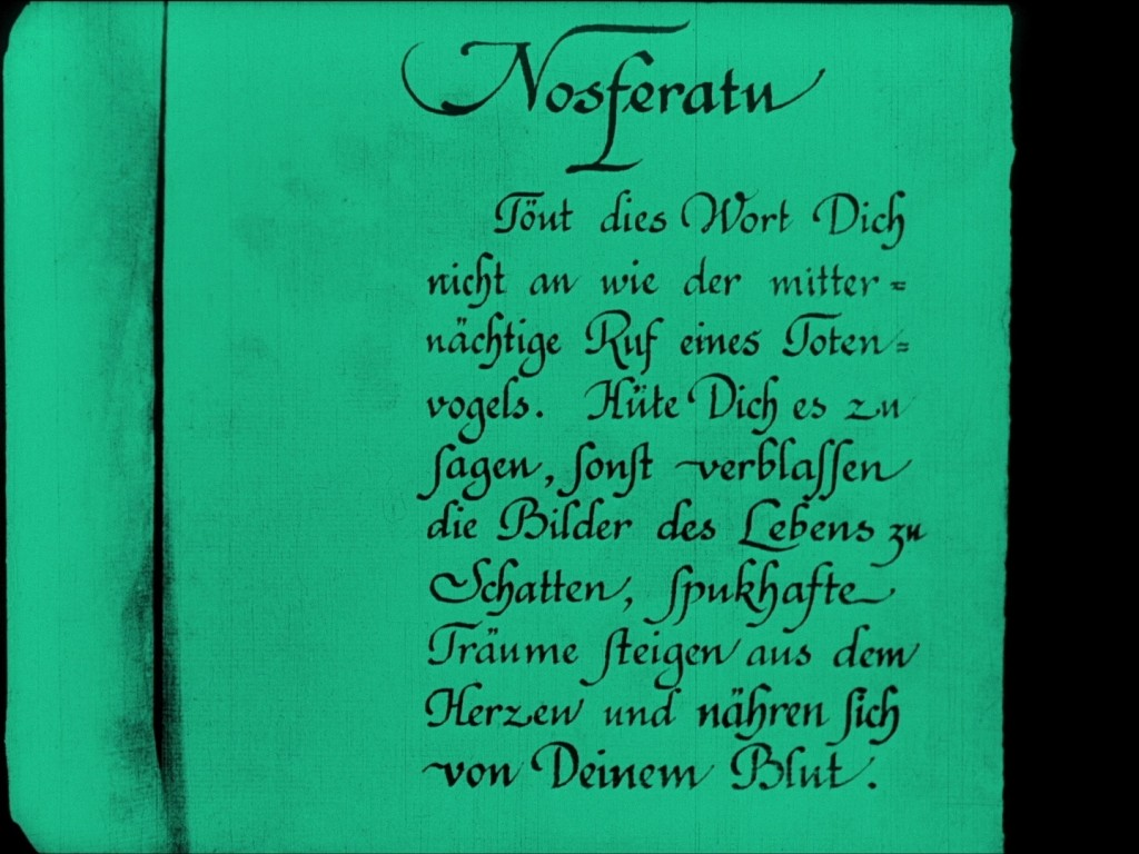 Nosferatu (1922), 2006 restoration German opening intertitle, UK Eureka-Masters of Cinema Blu-ray