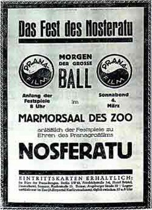 Nosferatu (1922) Film-Kurier magazine advert