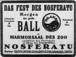 Nosferatu (1922) magazine advert