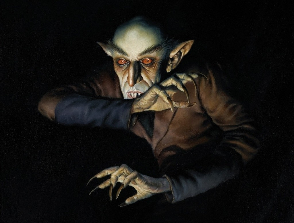 Nosferatu (1922) painting by Dave Stevens (1955–2008), cropped