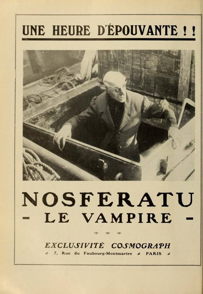 Nosferatu le vampire (1922) French magazine advert