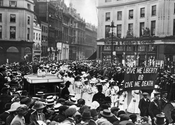 Suffragette Emily Wilding Davison's funeral procession, 14 June 1913