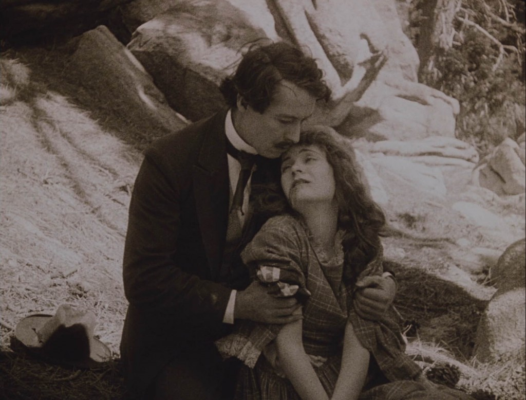 Henry B. Walthall and Mae Marsh in The Birth of a Nation (1915), BFI Blu-ray screenshot