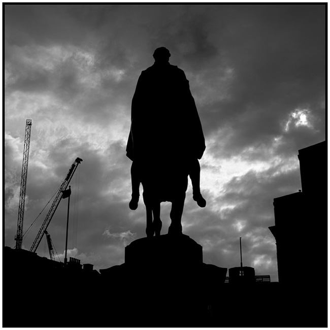 London Symphony (2016) soldier on horseback statue silhouette