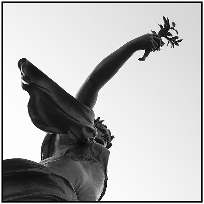 London Symphony (2016) statue bearing olive branch