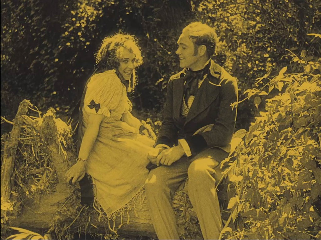 Margaret Gibson and Charles Ray in The Coward (1915), BFI Blu-ray screenshot