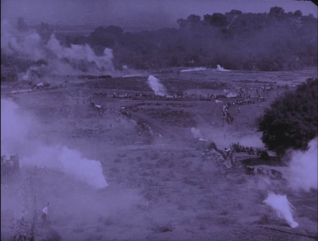 The Birth of a Nation (1915) BFI Blu-ray screenshot, battlefield