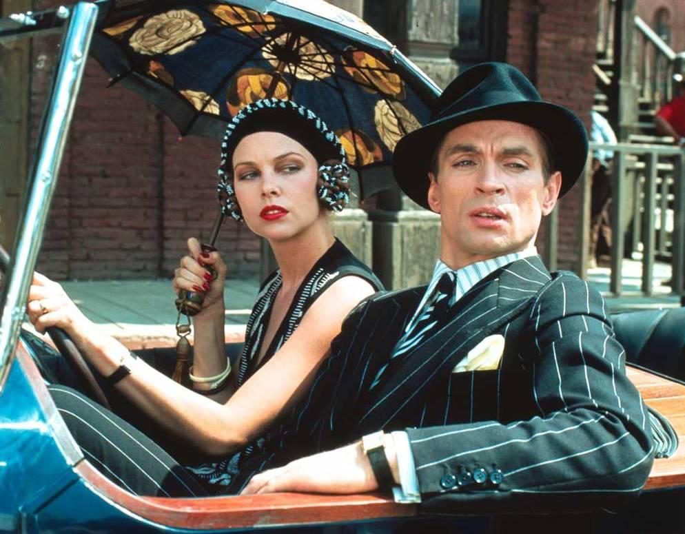 Michelle Phillips and Rudolf Nuryev in Ken Russell's Valentino (1977), driving