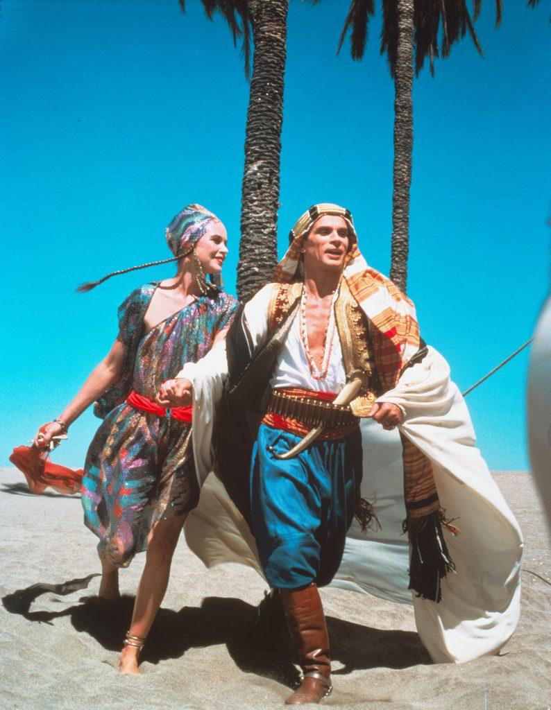 Michelle Phillips and Rudolf Nuryev in Ken Russell's Valentino (1977), running