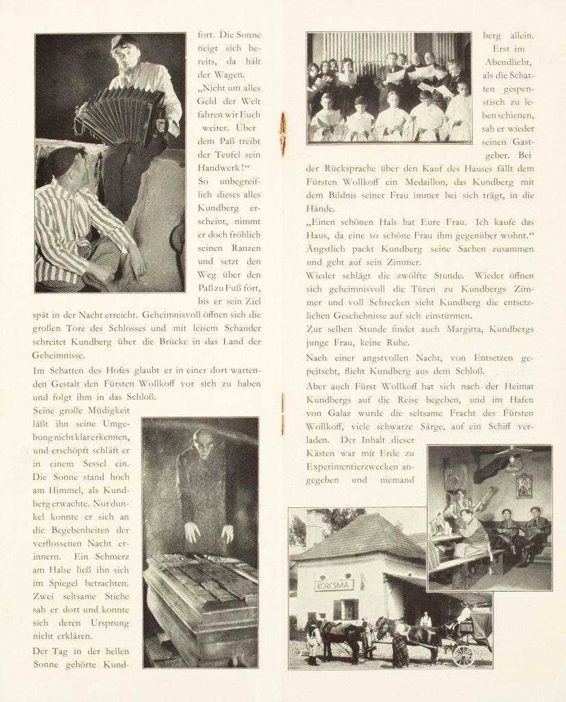 Die zwölfte Stunde. Eine Nacht des Grauens (1930) German programme, pages 4 and 5