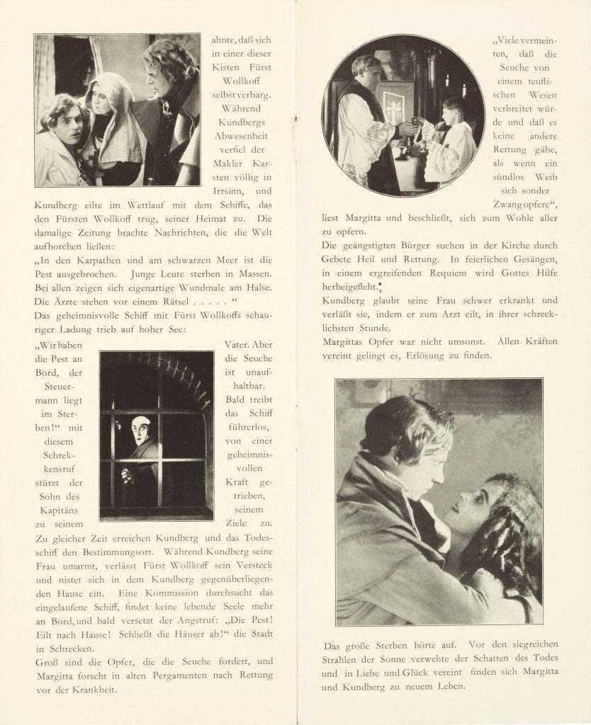 Die zwölfte Stunde. Eine Nacht des Grauens (1930) German programme, pages 6 and 7
