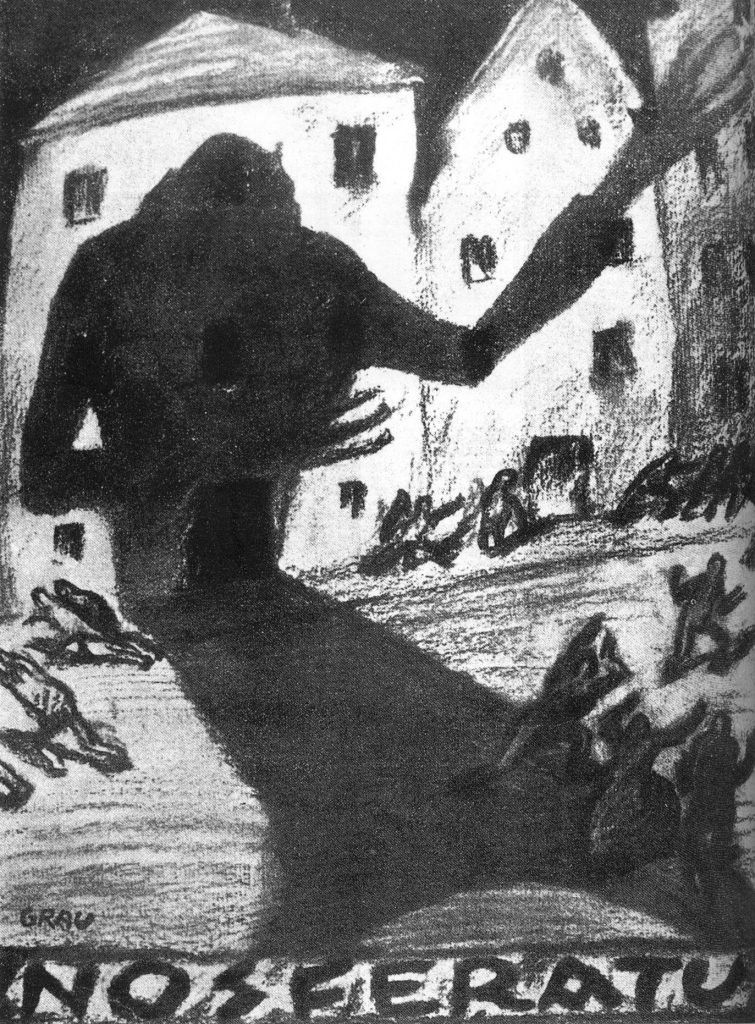 Nosferatu (1922) charcoal sketch by Albin Grau