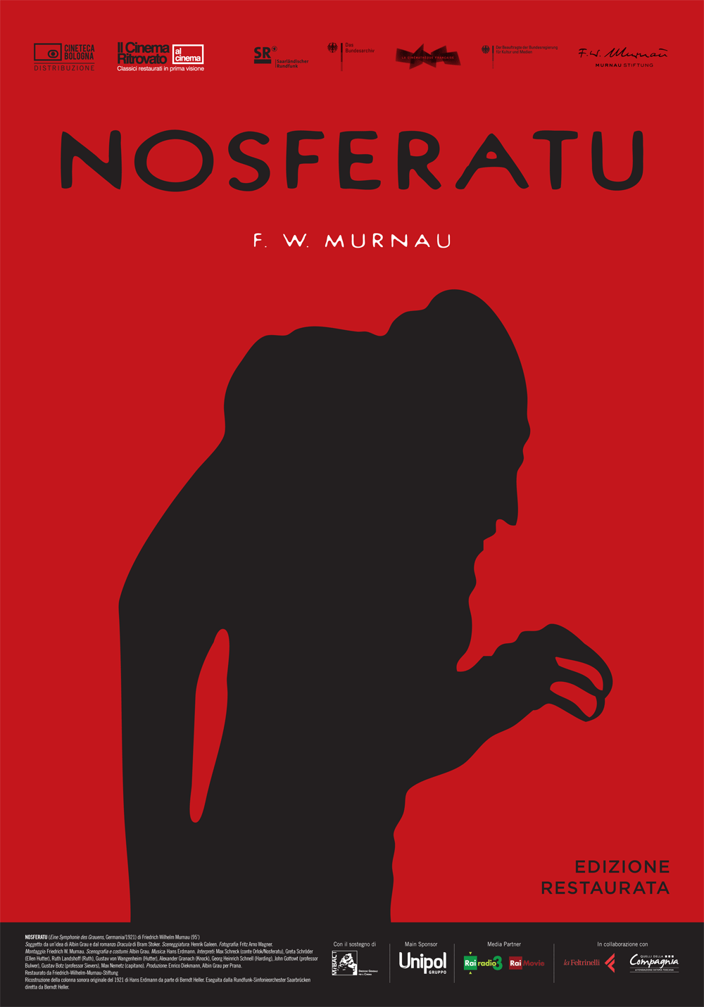 Nosferatu (1922) Italian poster for 2006 restoration