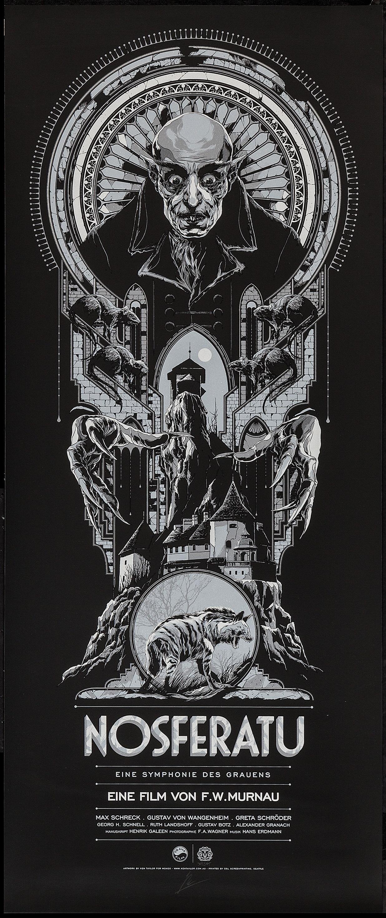 Nosferatu (1922) poster by Ken Taylor, 2014