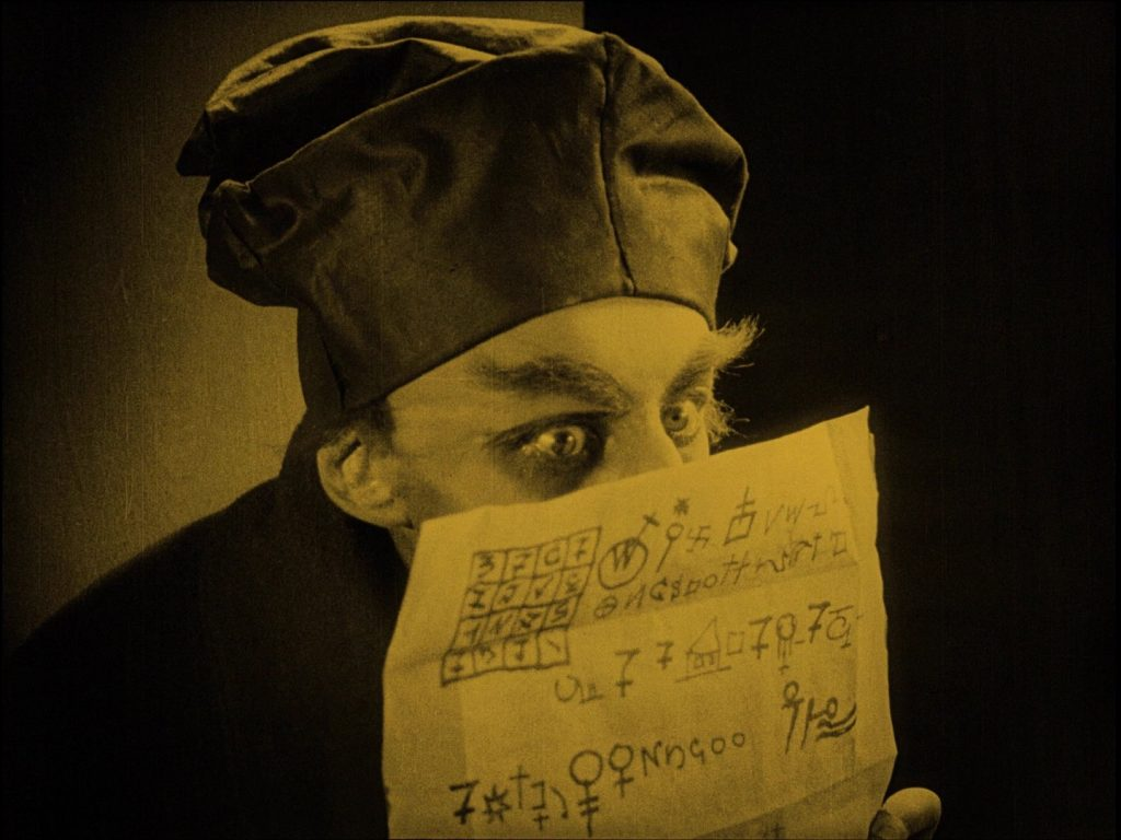 Nosferatu (1922) UK Eureka-Masters of Cinema Blu-ray, Orlok reading letter