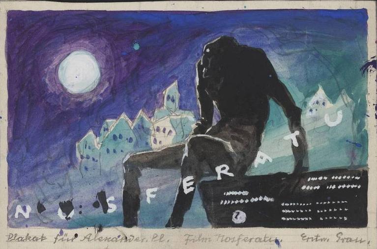 Nosferatu (1922) watercolour artwork by Albin Grau