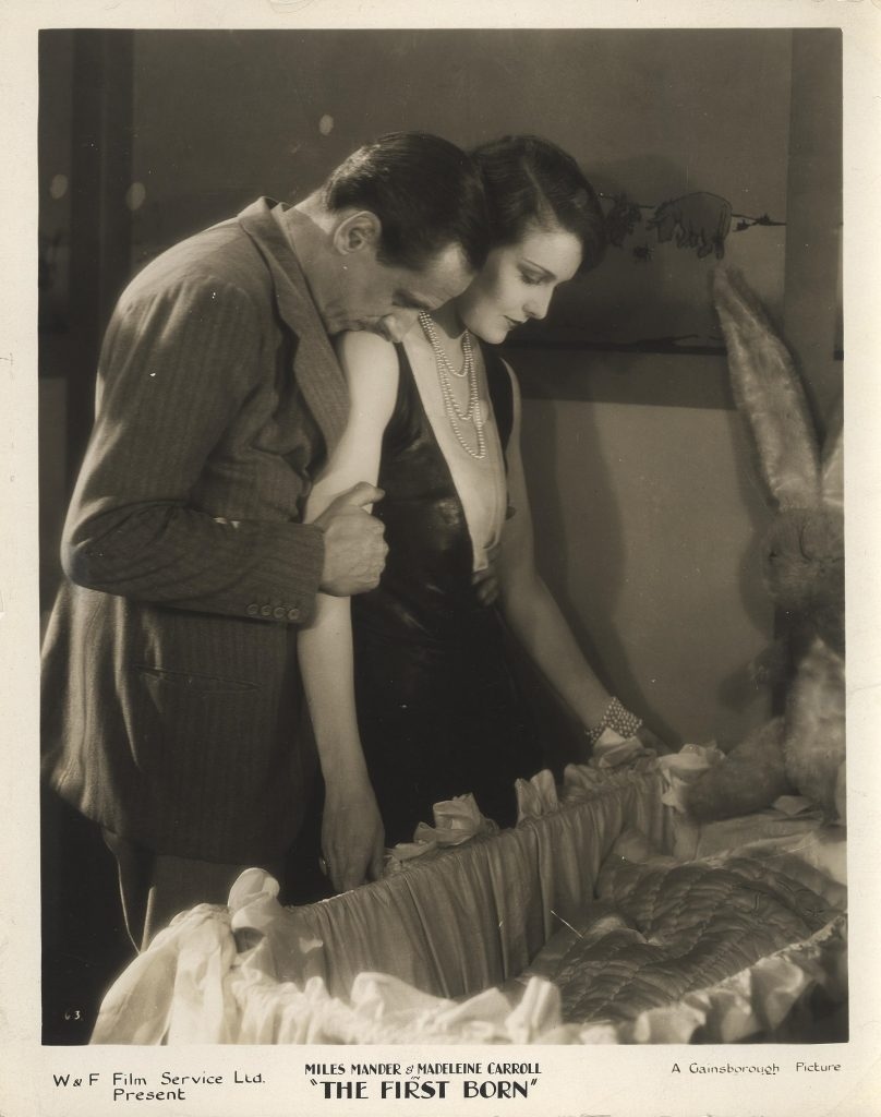 Miles Mander and Madeleine Carroll press photo for The First Born (1928)