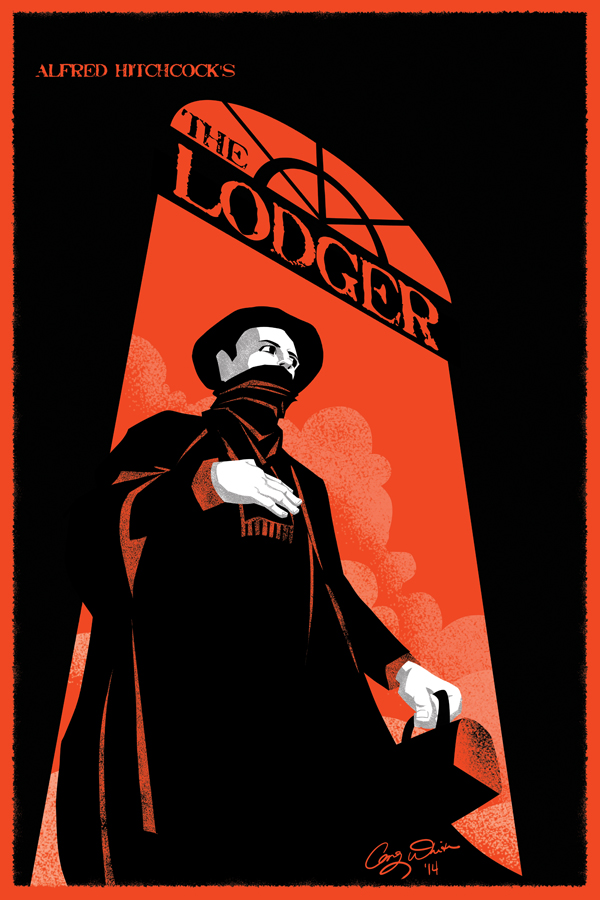 The Lodger (1926, dir. Alfred Hitchcock) poster by Greg White aka TightywhiteArt, 2014