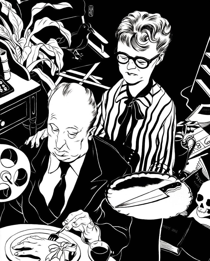 Alfred Hitchcock and Alma Reville by Cun Shi, 2014