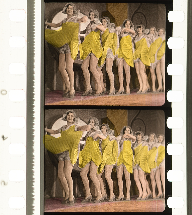 The (André) Charlot Girls in Elstree Calling (1930, part-dir. Alfred Hitchcock) Pathécolor nitrate print