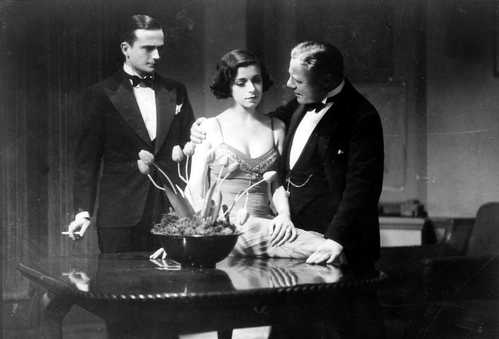 Frank Lawton, Phyllis Konstam and Edmund Gwenn in The Skin Game (1931, dir. Alfred Hitchcock)