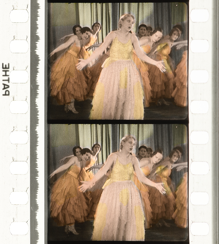 Helen Burnell and the Adelphi (Theatre) Girls in Elstree Calling (1930, part-dir. Alfred Hitchcock) Pathécolor nitrate print