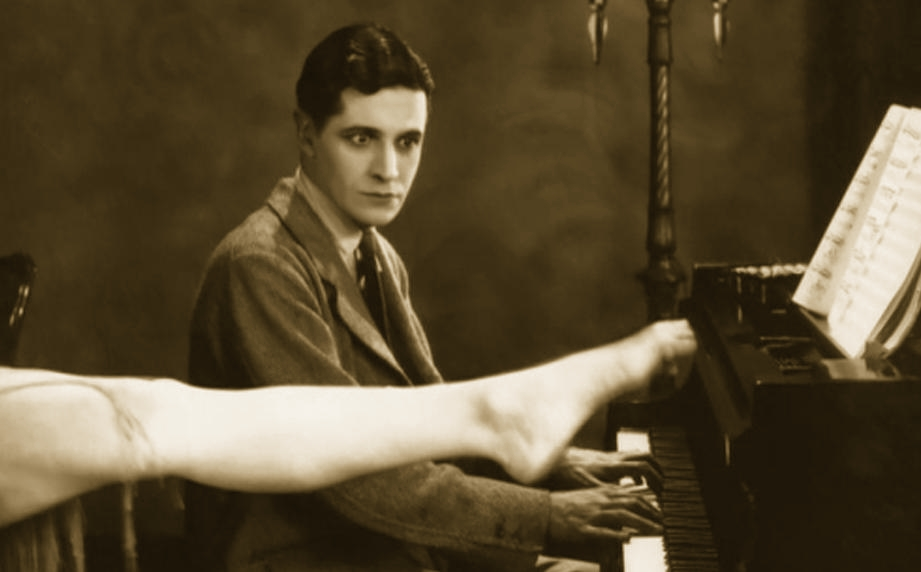 Ivor Novello in Downhill (1927, dir. Alfred Hitchcock)