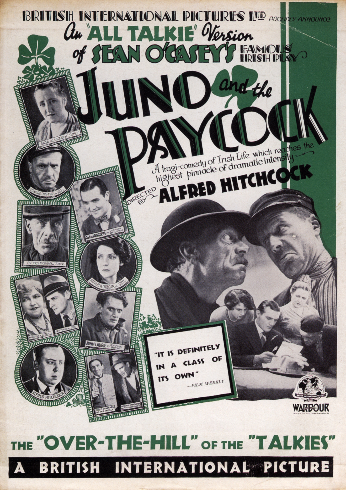 Juno and the Paycock (1930, dir. Alfred Hitchcock) UK pressbook