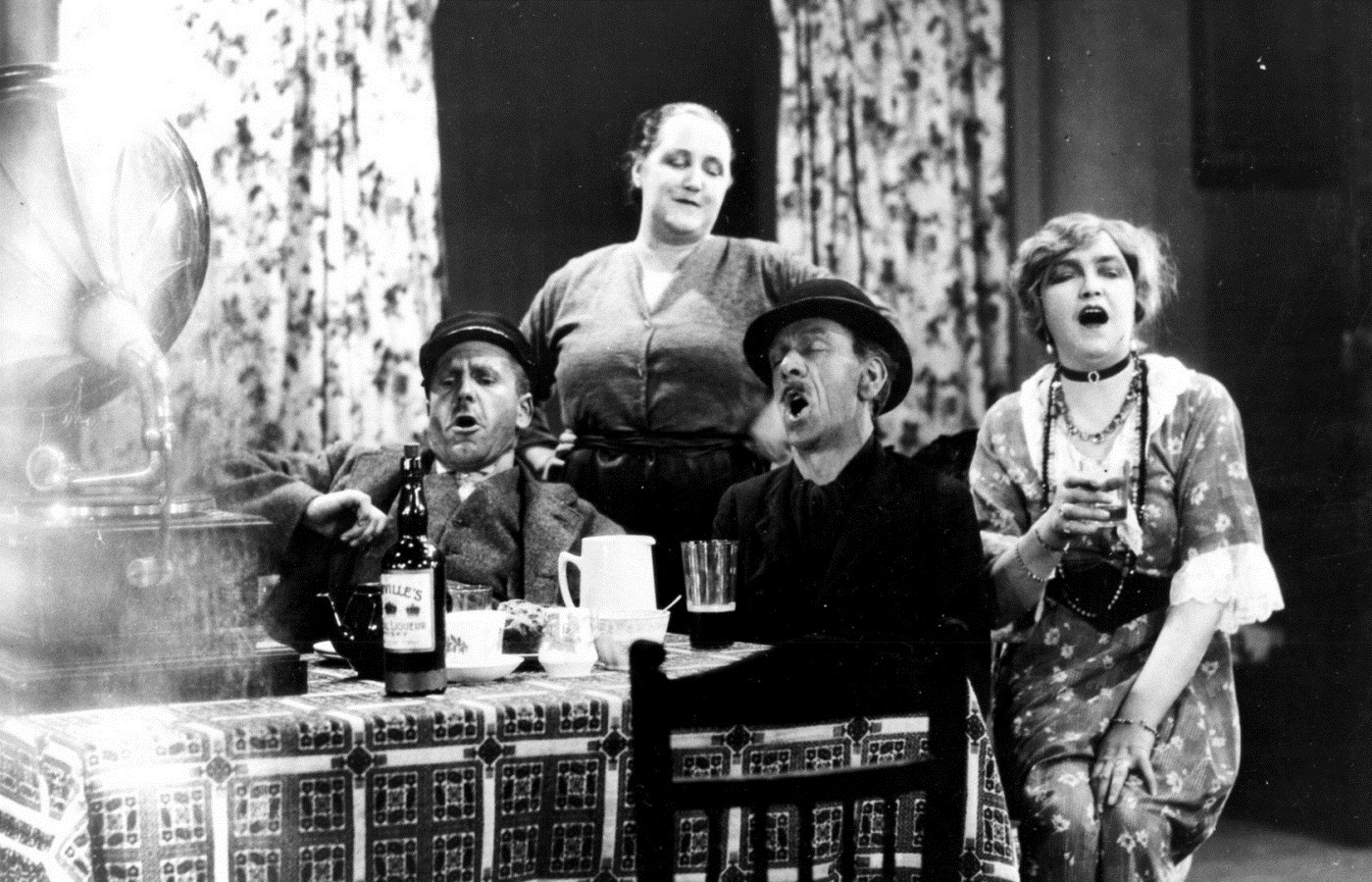 L-R: Edward Chapman, Sara Allgood, Sidney Morgan and Maire O'Neal in Juno and the Paycock (1930, dir. Alfred Hitchcock)