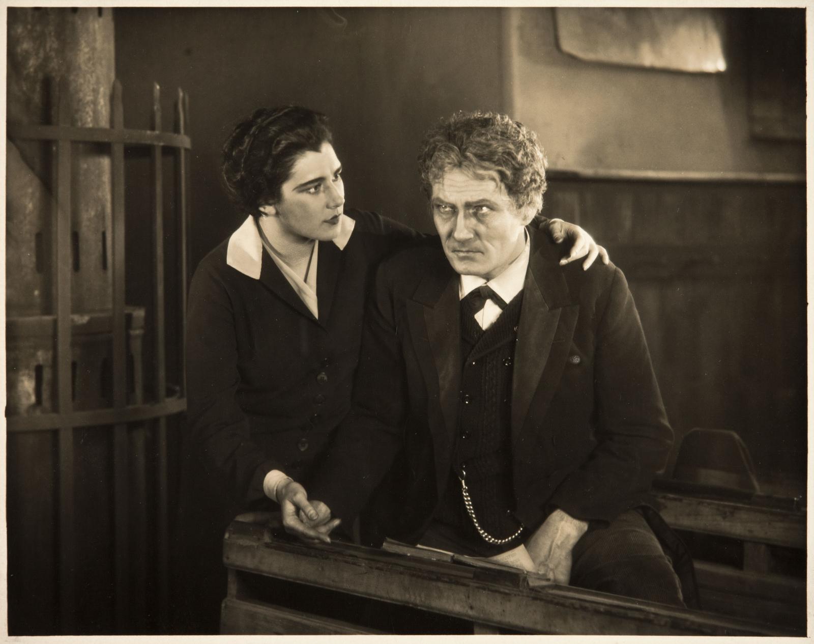 Nita Naldi and Bernhard Goetzke in The Mountain Eagle (1926, dir. Alfred Hitchcock)