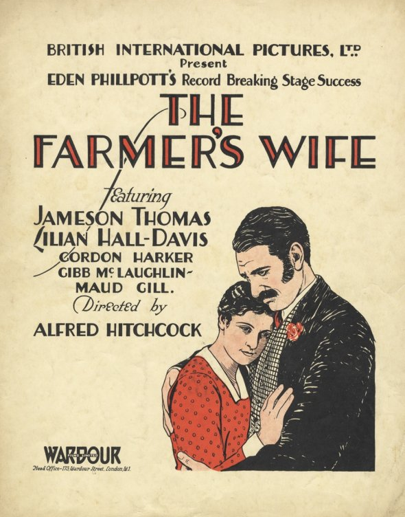 The Farmer's Wife (1928, dir. Alfred Hitchcock) UK pressbook