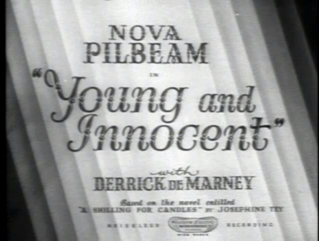 Guilty, m'lud! Young and Innocent (1937, dir. Alfred Hitchcock) US Brentwood bootleg DVD screenshot.