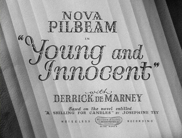 Get the picture? Young and Innocent (1937, dir. Alfred Hitchcock) US MGM licensed DVD screenshot.