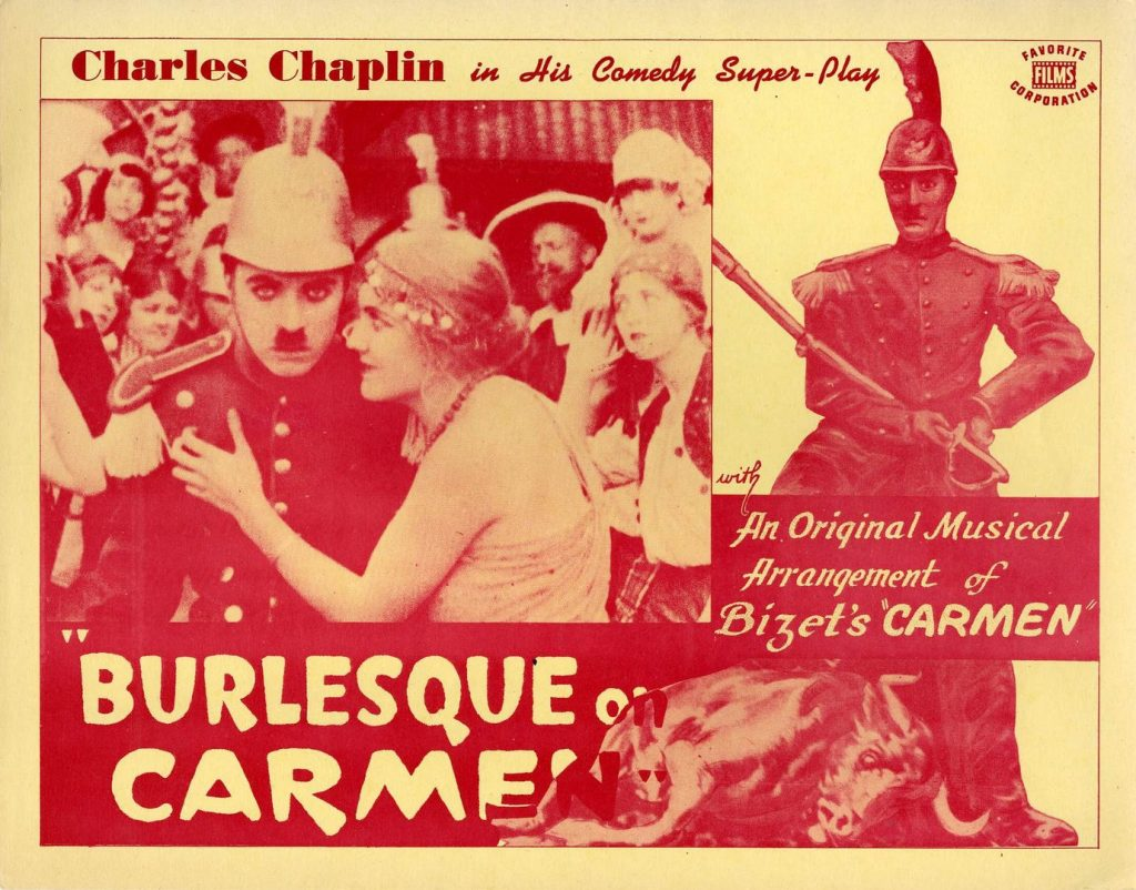 A Burlesque on Carmen (1916, Charlie Chaplin) US 1941 reissue lobby card