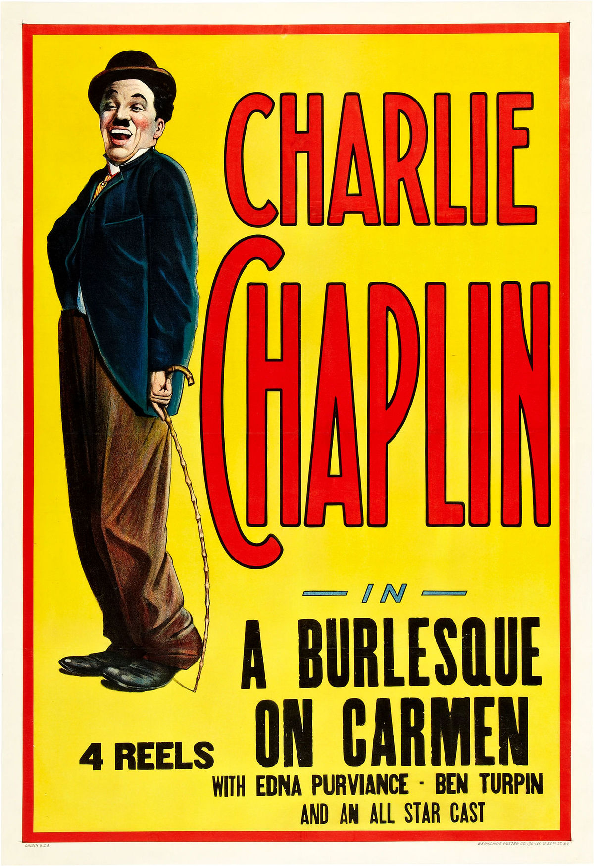 A Burlesque on Carmen (1916, Charlie Chaplin) US poster
