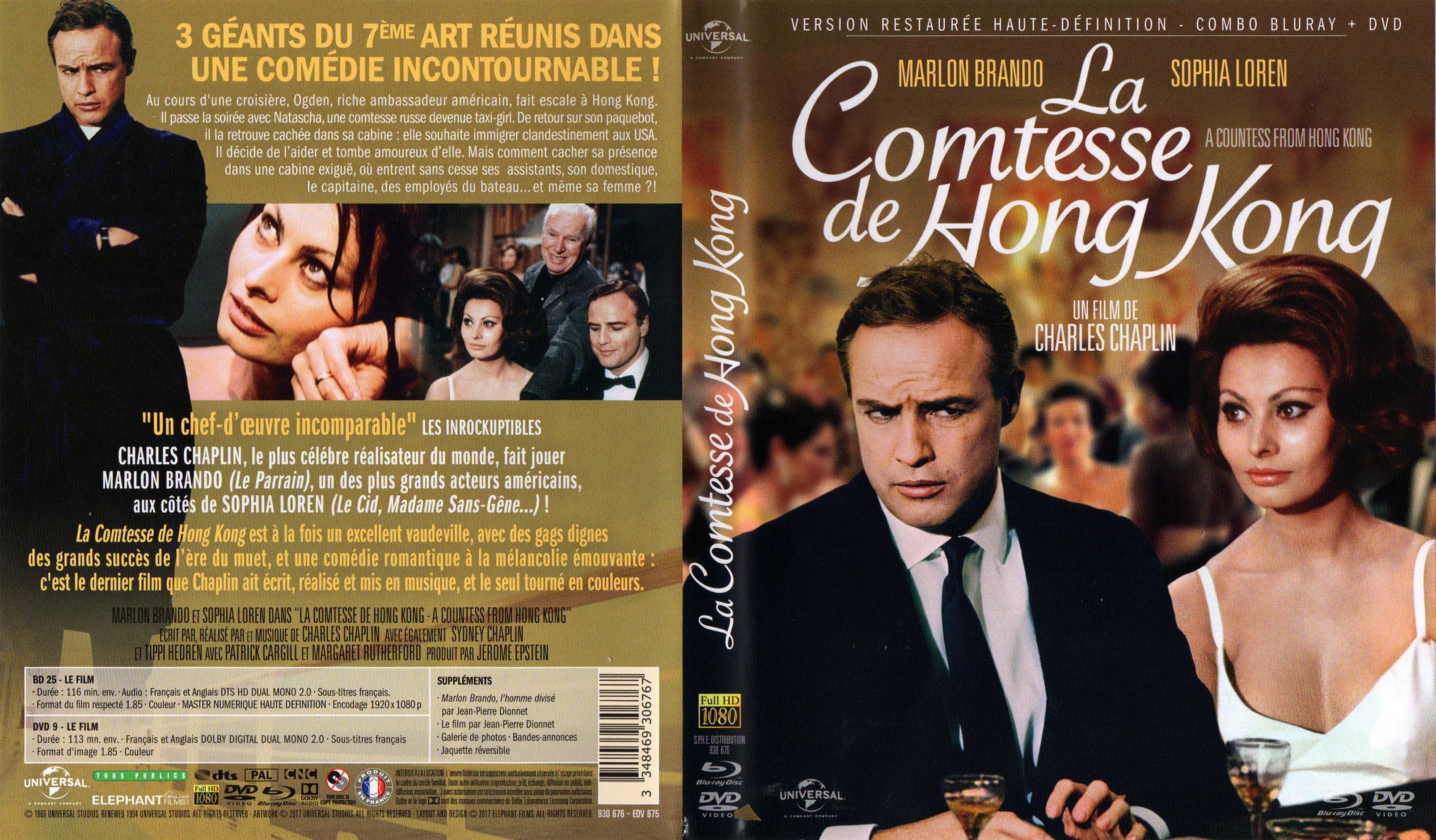 A Countess from Hong Kongaka La Comtesse de Hong-Kong (1967, Charlie Chaplin) French Elephant Films Blu-ray and DVD set