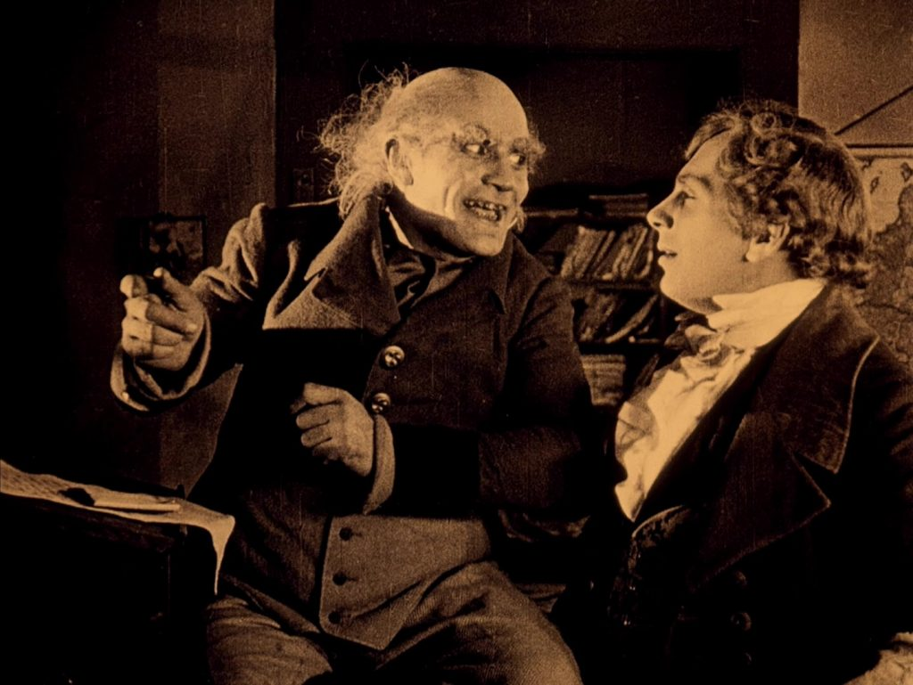 Alexander Granach (L) and Gustav von Wangenheim in Nosferatu (1922) UK BFI Blu-ray