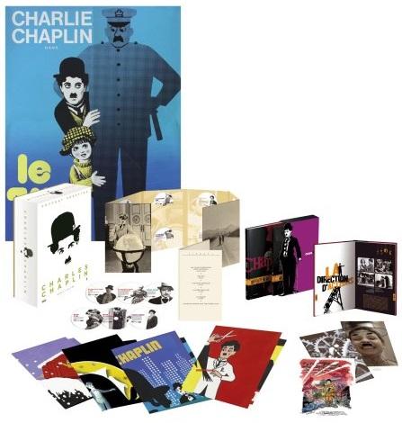 Charlie Chaplin Coffret Prestige Limitée et Numérotée French mk2/Warner DVD box set