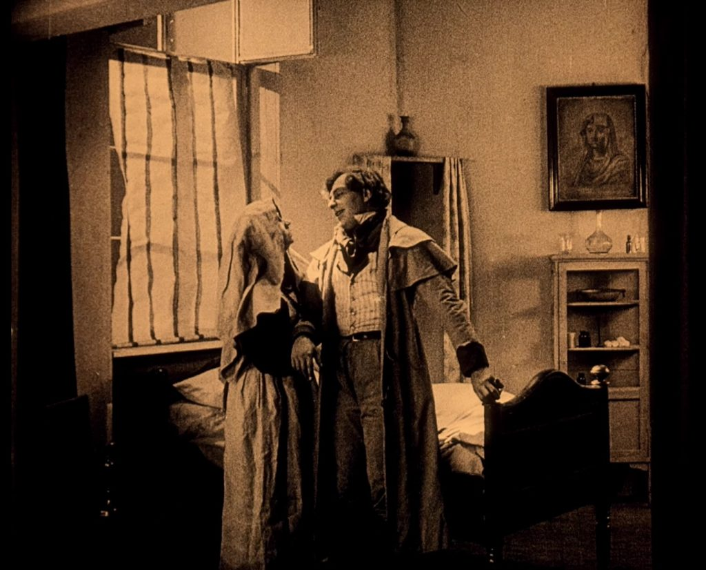 Fanny Schreck, real-life wife of lead actor Max, and Gustav von Wangenheim in Nosferatu (1922) UK BFI Blu-ray
