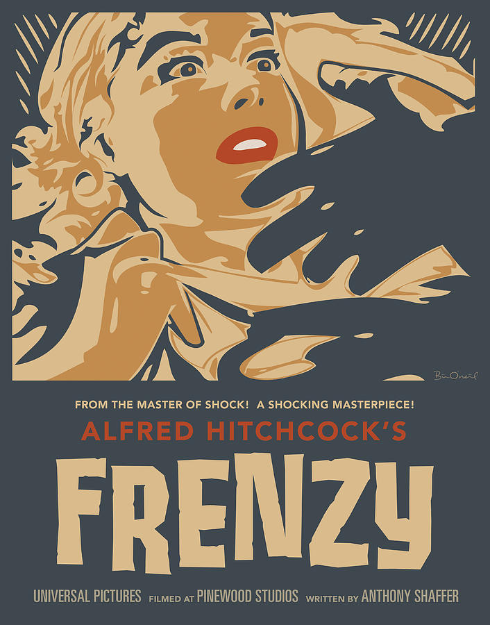 Frenzy (1972, dir. Alfred Hitchcock) poster by Bill O'Neil, 2008