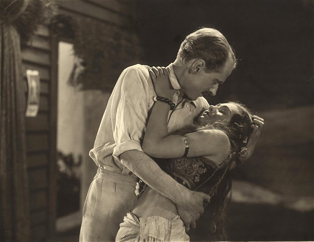 Miles Mander and Elizabeth Pappritz in The Pleasure Garden (1925, dir. Alfred Hitchcock)